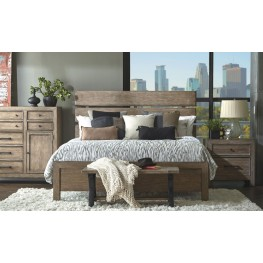 Flatbush Brown Plank Bedroom Set