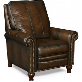 Declan Dark Walnut Leather Recliner