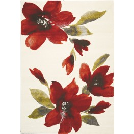"Safi Watercolor Flowers I 94"" Rug"