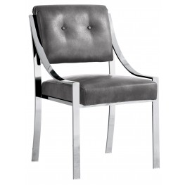 Savoy Dining Chair In Grey Nobility