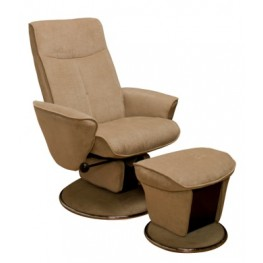 Relax Shelby Fawn Fabric Swivel Glider Recliner