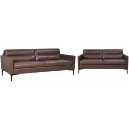 Selton Coffee Leather Living Room Set