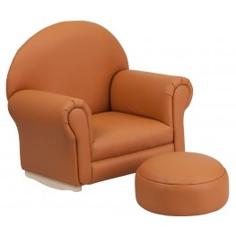 Kids Brown Rocker Chair And Footrest (Min Order Qty Required)