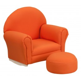 Kids Orange Rocker Chair And Footrest (Min Order Qty Required)