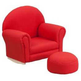 Kids Red Rocker Chair And Footrest (Min Order Qty Required)