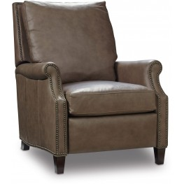 Calvin Gray Leather Recliner