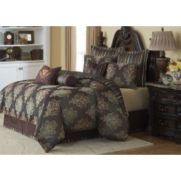 Sienna Chocolate 9 piece Queen Comforter Set
