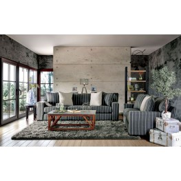 Elin Black and Gray Living Room Set