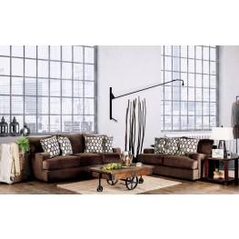 Glynis Chocolate Living Room Set