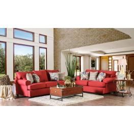 Rena Red Living Room Set