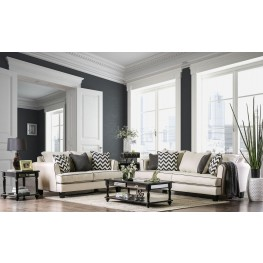 Percey Off-White Living Room Set