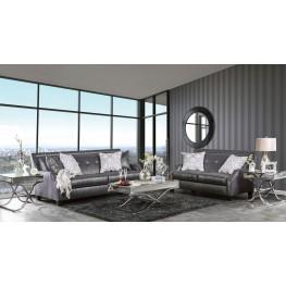 Massimo Shiny Black Living Room Set