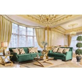 Verdante Emerald Green Living Room Set