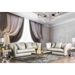Alessandra Silver Living Room Set