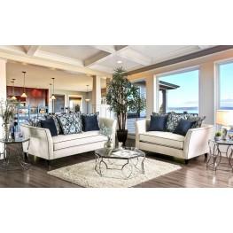 Chantal Off-White Living Room Set