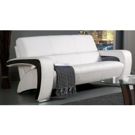 Enez White Leatherette Sofa