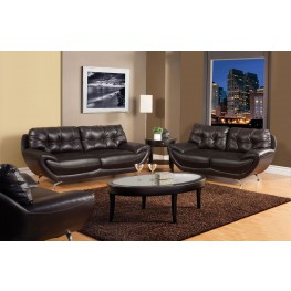 Volos Espresso Living Room Set