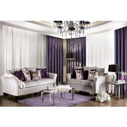 Oliviera Silver Living Room Set