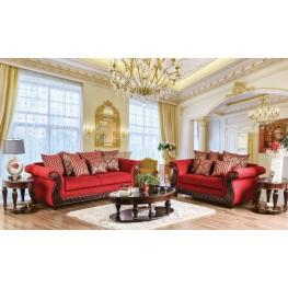 Corinna Ruby Red Living Room Set