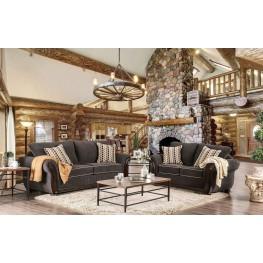 Bowdle Dark Gray Living Room Set