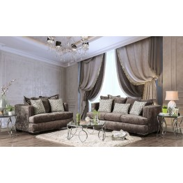 Maisie Silver Living Room Set