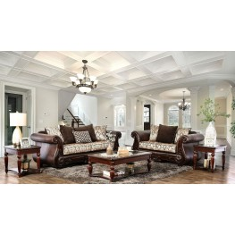 Alessio Brown Living Room Set