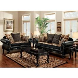 Theodora Black Living Room Set