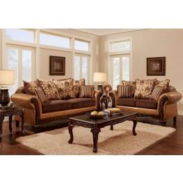 Isabella Camel Brown Living Room Set