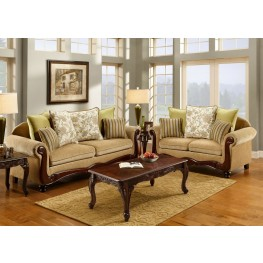 Banstead Tan Fabric Living Room Set