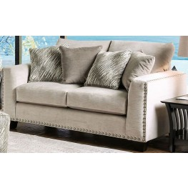 Stefano Light Mocha Upholstered Loveseat