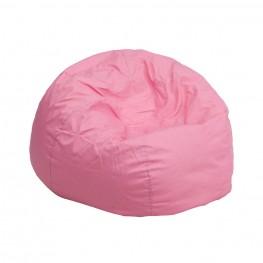 Small Solid Light Pink Kids Bean Bag Chair