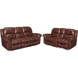 Sebastian Brown Reclining Leather Living Room Set