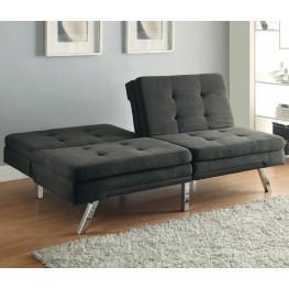 300213 Charcoal Microfiber Split Back Tufted Sofa Bed