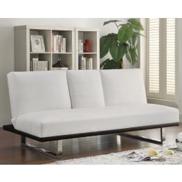 500030 White Leatherette Sofa Bed