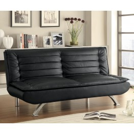 500055 Black Leatherette Sofa Bed