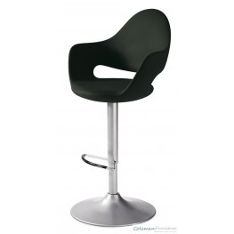 Soft Black Swivel Stool