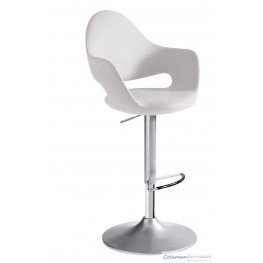 Soft White Swivel Stool