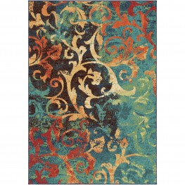 Nepal Scroll Multi Large Rug