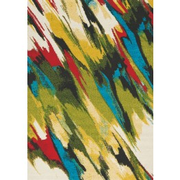 Spring Multi Brush Strokes Medium Rug