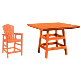 "Generation Orange 42"" Square Pub Set"