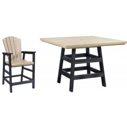 "Generation Beige/Black 42"" Square Pub Set"