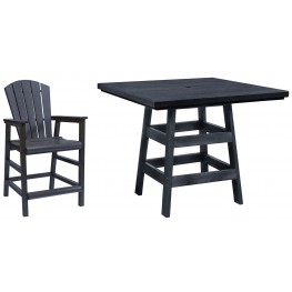 "Generation Black 42"" Square Pub Set"