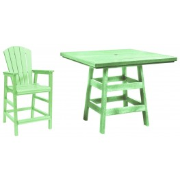 "Generation Lime Green 42"" Square Pub Set"