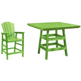 "Generation Kiwi Lime 42"" Square Pub Set"