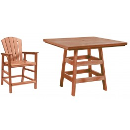 "Generation Cedar 42"" Square Pub Set"