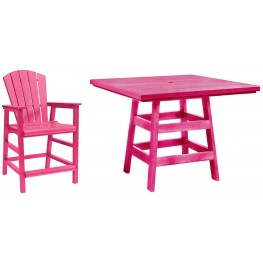 "Generation Fuschia 42"" Square Pub Set"