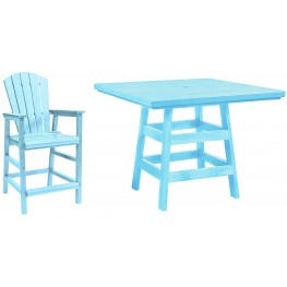 "Generation Aqua 42"" Square Pub Set"