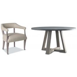 Saratoga Driftwood Round Dining Room Set