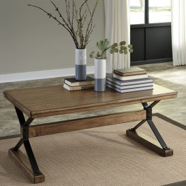 Flextura Light Brown Occasional Table Set