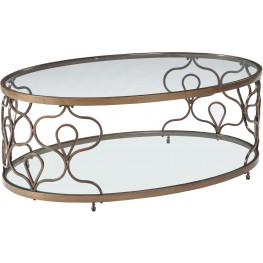 Fraloni Bronze Oval Cocktail Table